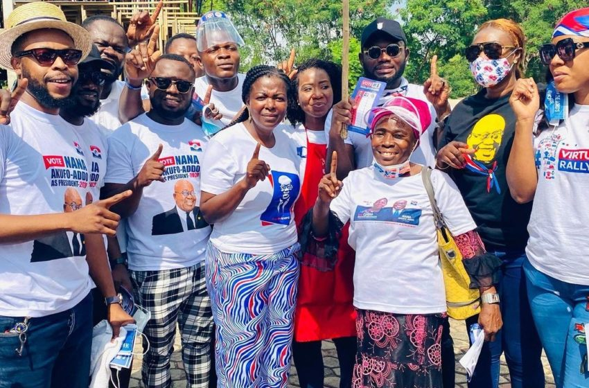 Kalybos, Prince David Osei, Bibi Bright, Other Top Actors Join Maa Lydia To Campaign Against Dumelo At Ayawaso West Wuogon – See Photos