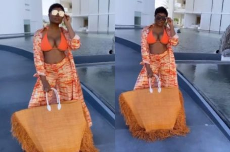 Vacation Time! Popular Ghanaian Lawyer, Sandra Ankobiah Flaunts Her 'Heavy Melons' In Mexico (Video)