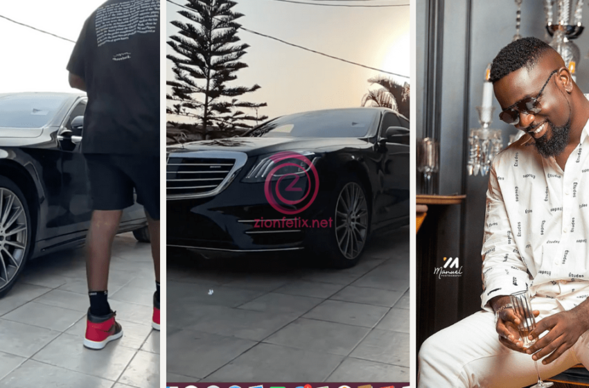 Sarkodie Shows Off His Brand New Mercedez-Benz S550 Worth Over $100,000 After Rapperholic 2020  Concert (Video)