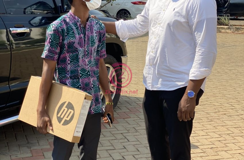 John Dumelo Resumes Laptop Distribution After Election Defeat (Photos)
