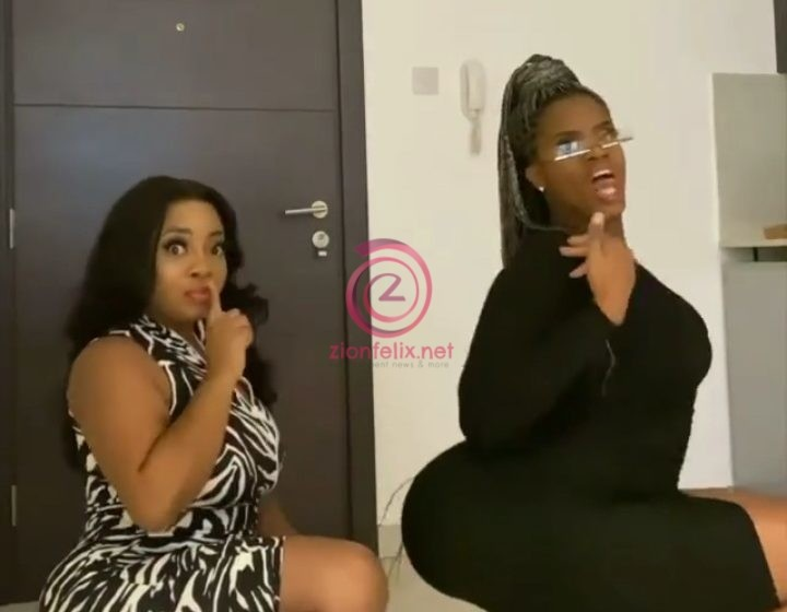 Moesha Buduong And Her Friend Put Heavy Backsides On Display As She Finally Joins The Viral Bussit Challenge (Video)
