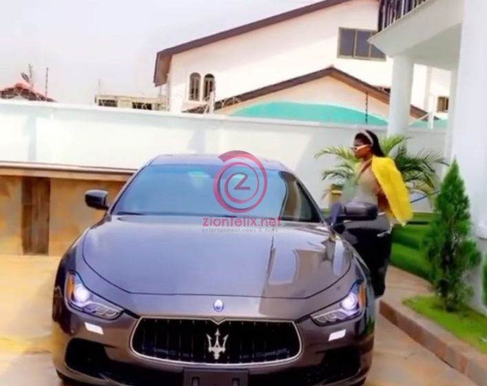 Becca Starts 2021 By Driving In A New Maserati (Watch Video)