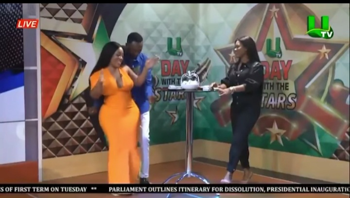 Married Salinko Spotted Grinding Moesha Buduong's Enviable Back On Live TV (Video)