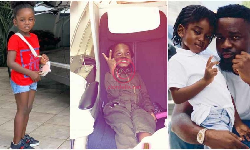 Sarkodie And His Daughter, Titi Sarkess Spotted Rocking Lovely Matching Outfits As They Step Out For SC Mobile's Special Giveaway (Video)