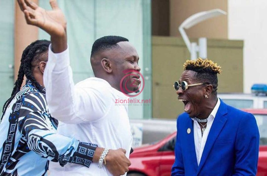 Shatta Wale And Stonebwoy's Former Manager, Blakk Cedi Meet Publicly In A Long While And Hang Out (Video)