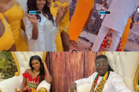 Wisa Greid And Wife Dance To Sefa's Sugar Song At Their Traditional Marriage Ceremony With Beautiful Bride's Maids (Watch Video)
