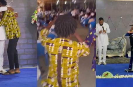 Fameye Storms Rev Obofour's Church To Give Him And Church Members Surprise Performance (+Video)