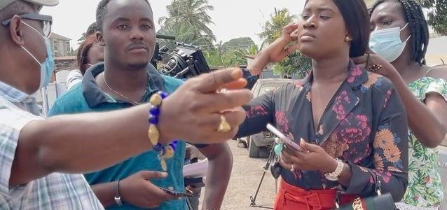 Fella Makafui Goes Back On Set With The Man Who Made Her Very Popular To Shoot New Movie – See Exclusive Videos From The Shooting