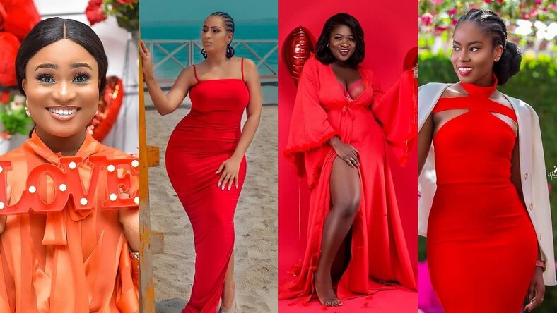 Popular Female Ghanaian Celebrities Paint Social Media Red With Stunning Photos As They Celebrate Val's Day (Photos)