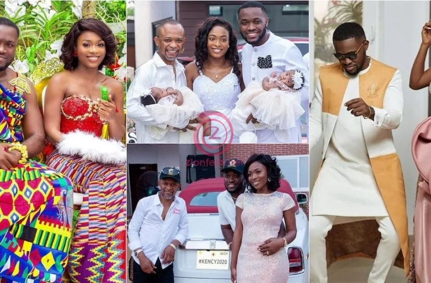 Kency2020: Kennedy Osei And His Wife, Tracy Share Two Beautiful Unseen Videos From Their Plush Wedding To Mark Their One Year Anniversary