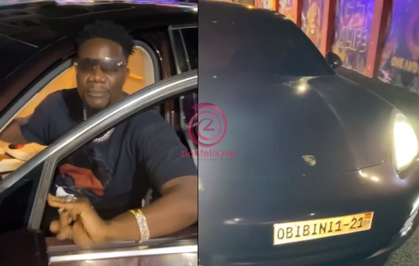 Rapper Obibini Brags And Disses Other Rappers As He Cruises In His Brand New 2021 Customized Porsche (Video)