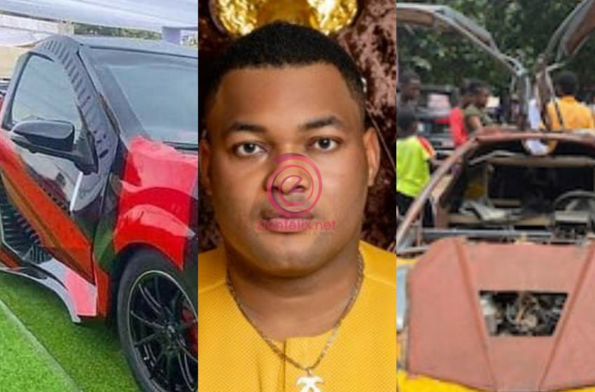 Kwadwo Sarfo Jnr Responds To Allegations Of Stealing JHS Boy's Idea To Manufacture Flying Door Kantanka Car