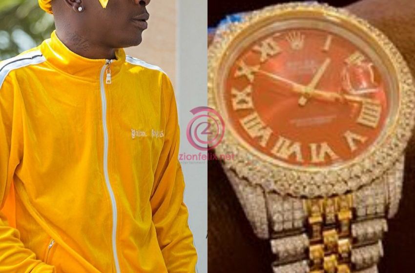 Shatta Wale Unveils His Newly Acquired Expensive Rolex Watch In Latest Video