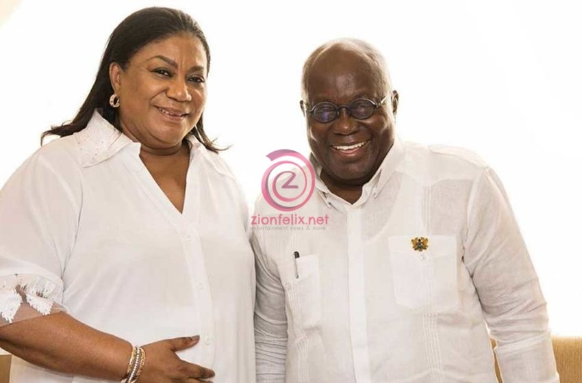Prez. Akufo-Addo Surprises First Lady, Rebecca Akufo-Addo With Sweet Val's Day Gift; She Reacts Happily (Photo)