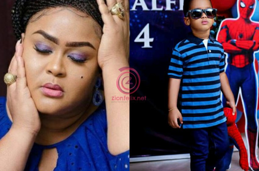 You Made Me Forget My Sorrows After 18 Years Of Searching For The Fruit Of The Womb – Vivian Jill Celebrates Her Son As He Turns A Year Older