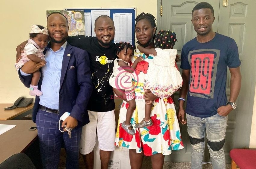 Revealed! Actor Kwaku Manu Is The One Behind Funny Face And His Baby Mama + Kids Reunion (Photos)