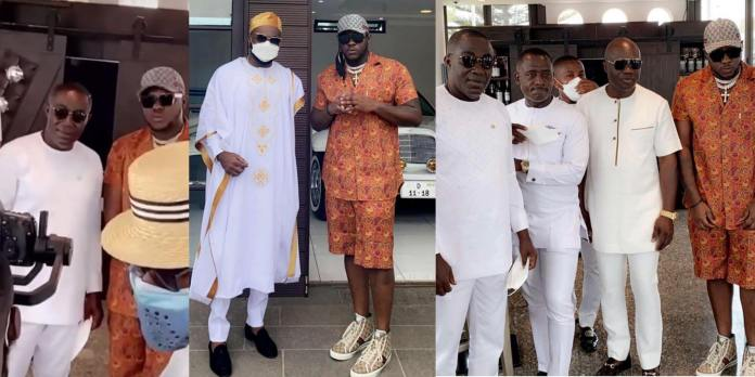 Medikal Tours Despite's Fleet Of Luxury Cars As He Meets The Millionaire At Kency Anniversary And Baby Naming Ceremony (Video)