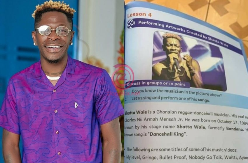 Lessons On Shatta Wale In Primary 4 Textbook Causes Stir Online (See Photos)