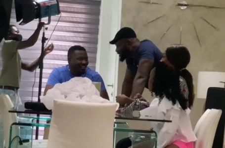 John Dumelo And Prince David Osei Reunite On Set Following  2020 Political Differences (Video)
