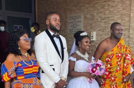 See The Adorable Photos From Abena Moet And Hubby's White Wedding