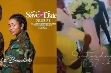 """""""You Will Die"""" – Guests At Richard Agu And Abenaa's Wedding Mock Richard's Ex, Comfort As He Walked Down The Aisle With His Wife (Video)"""
