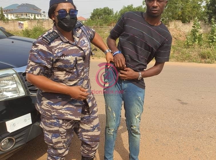 Kwaku Manu Is In Trouble As Hajia Police 'Arrests' Him For Flouting COVID-19 Safety Protocol (Watch Video)