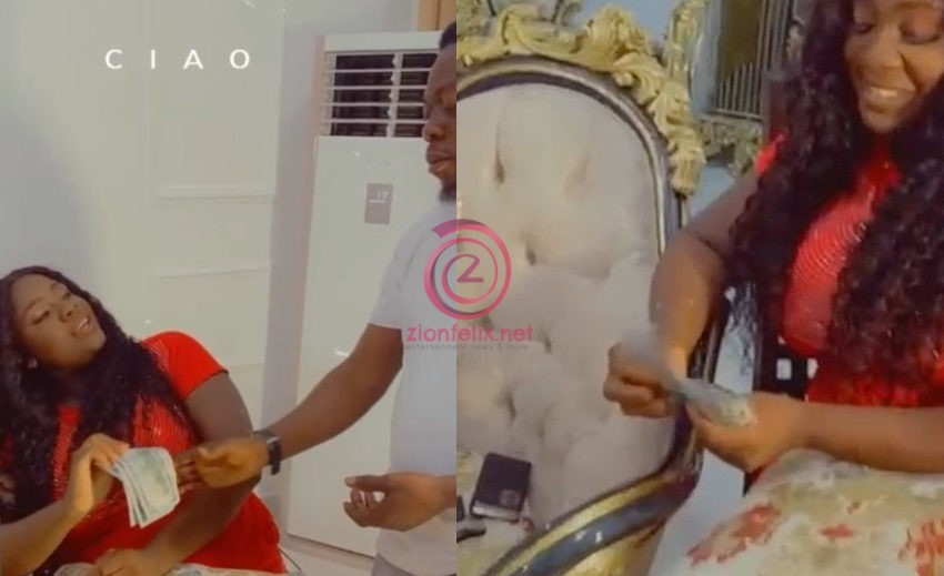 Video Of The Moment Tracey Boakye Gifted Kyekyeku's Team Members Extra $500 Surfaces Online