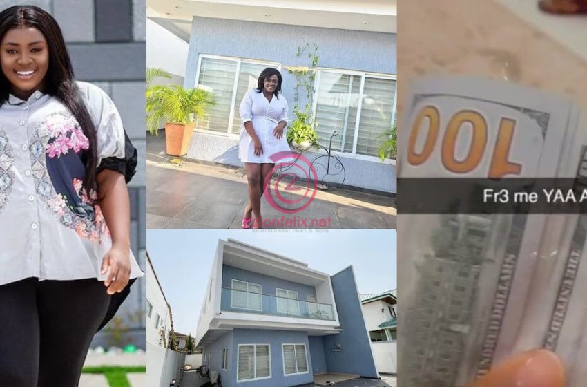 Tracey Boakye Takes A Swipe At Naysayers As She Receives Bundle Of $100 Notes As Payment For Renting Her Controversial East Legon House (Video)