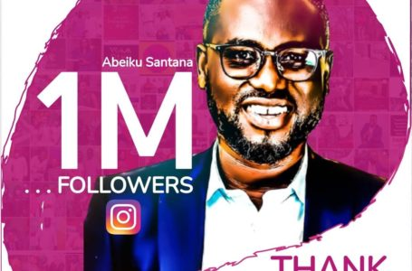 Abeiku Santana Becomes First Male Radio Personality To Hit One Million Followers On Instagram (See Post)