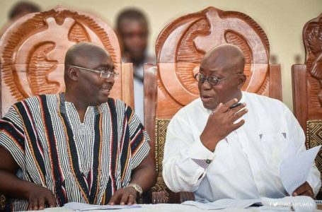 Veep Bawumia And President Akufo-Addo Captured Jubilating After The Supreme Court Dismissed John Mahama's Election Petition (Video)