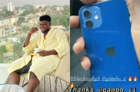 Gambo Gifts DJ Mensah A Tear Rubber IPhone 12 With Ghc 2,000 For Credit (Video)