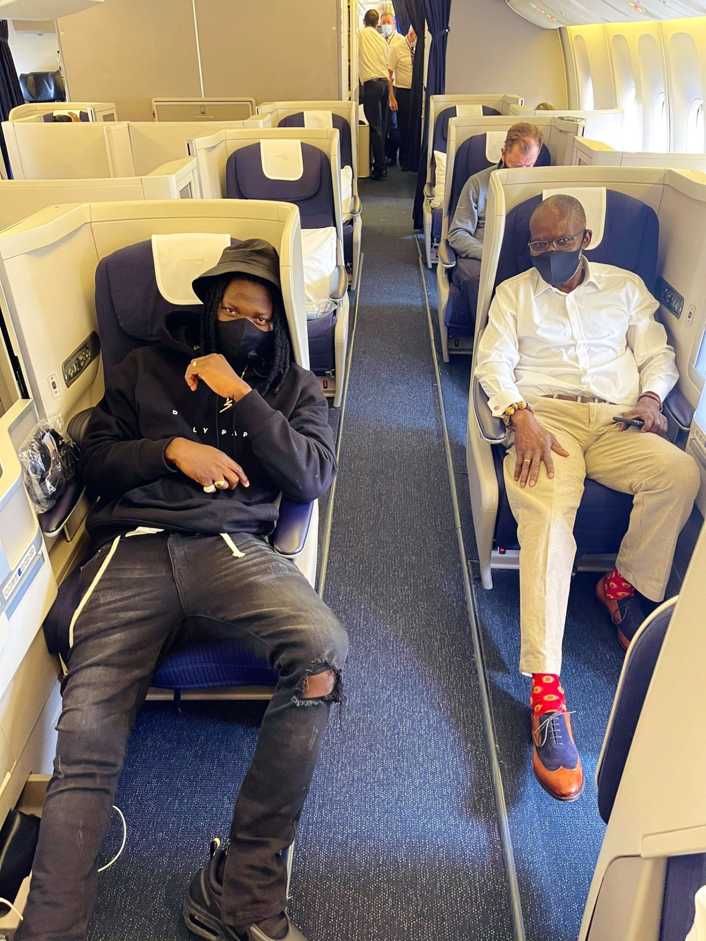 Stonebwoy Jets Off To Las Vegas With NPP's Gabby Otchere-Darko (Photos)
