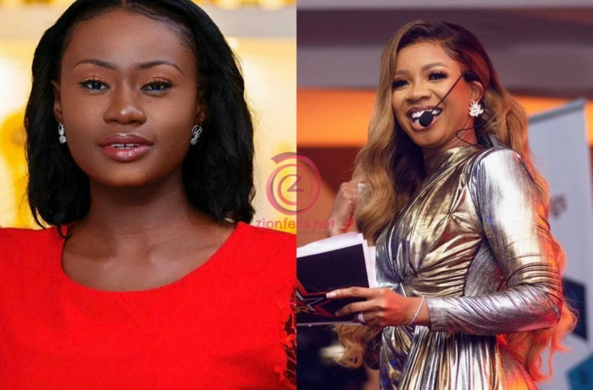 """""""Welcome Home To The Winning Team"""" – Serwaa Amihere Happily Says As She Welcomes Natalie Fort To GhOne TV With A Kiss (Video)"""