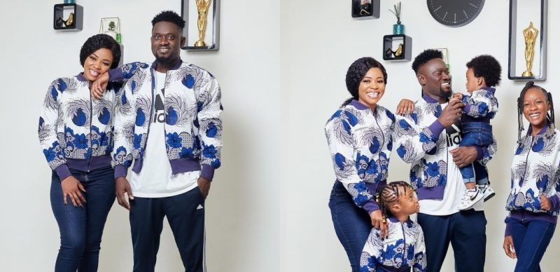 Bismark The Joke's Beautiful Wife And Adorable Kids Spotted Online In Stunning Family Photo