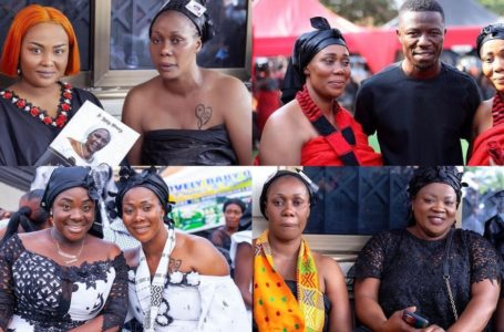 PHOTOS: Bill Asamoah, Kwaku Manu, McBrown, Mercy Asiedu, And Other Top Kumawood Stars Attend The Funeral Of Actress Borga Sylvia's Mother