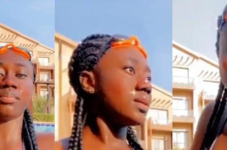 'Decent' Hajia Bintu Goes Swimming And Shows Off Her Enviable Bakka In Swimwear (Videos)