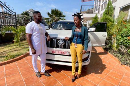 Ohemaa Woyeje Speaks After Millionaire Dr. Kwaku Oteng Gifted Her A Tear-Rubber Toyota Prado (+Video)