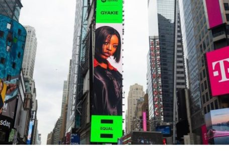 Gyakie's Billboard Spotted At The Times Square In The USA