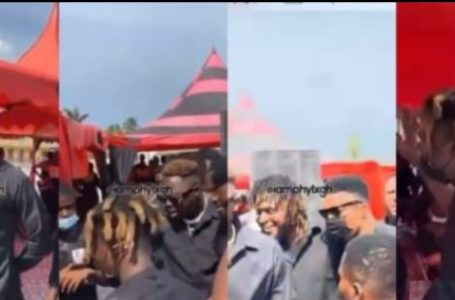 VIDEO: Medikal, Kofi Kinaata, Dope Nation And Other Stars Storm Quamina MP's Father's Funeral To Mourn With Him