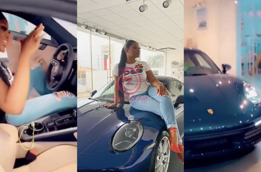 Sandra Ankobiah Shows Off Pretty Mother For The First Time As They Go Cruising In Her New Ghc600,000 Worth Car (Video)