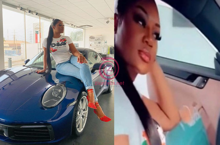Watch Video Of An Exclusive Interior View Of Sandra Ankobiah's Over Ghc600,000 Worth Brand New 2021 Porsche 911 Carrera