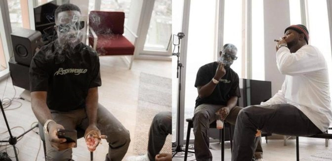 Fresh Photos Of Sarkodie Smoking Like A Pro Cause Confusion Online