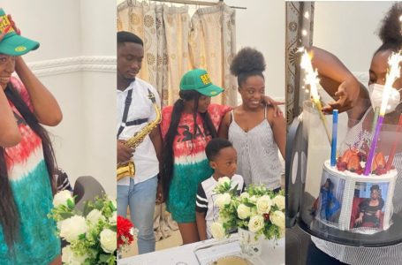 Ayisha Modi Throws Surprise Birthday Party For Singer Efya At Her Home (Watch Videos)