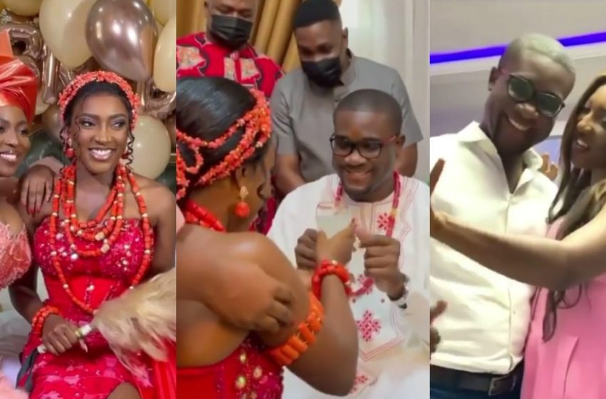Younger Sister Of Actress Yvonne Okoro, Roseline  Gets Married; Exclusive Videos Drop Online (Watch)