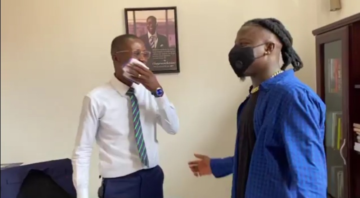 Watch The Epic Reaction of Bernard Avle As Stonebwoy Surprised Him In His Office On His Birthday (Video)