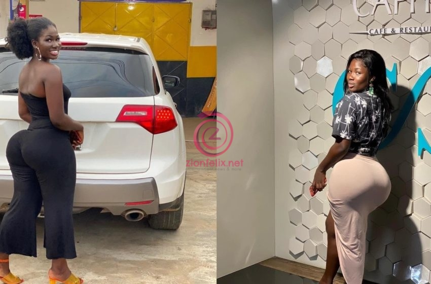 Heavy Back Model, Abena Cilla In Shock As Her Photos Flaunting Her Big Back Gets Crazy Reactions Over The Ones She Covered Up (+Photos)