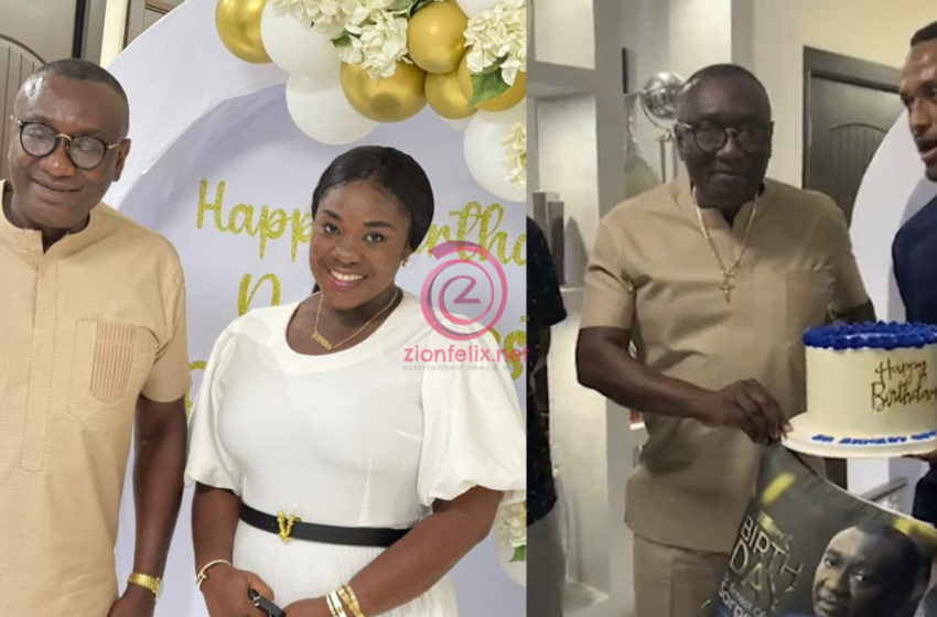 VIDEO: Lovely Moment Emelia Brobbey, Presec Old Boys, And Other Rich Men Stormed The Office Of Millionaire, Dr. Ofori Sarpong, To Pull A Birthday Surprise On Him