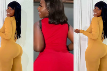 Hajia Bintu Shakes Her Mountainous Back As She Drops Wild Video To Join #BoOtyB0unceChallenge