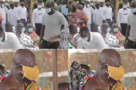 Rare Video Of The Moment Ras Nene, Shiifo, Kyekyeku, 39/40, Ama Tundra And Other Kumerica Comic Actors Met With Otumfou Osei Tutu II