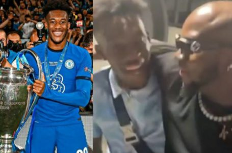 Chelsea Winger Callum Hudson-Odoi Spotted With King Promise As He Vacations In Ghana Following Champions League Win (Video)